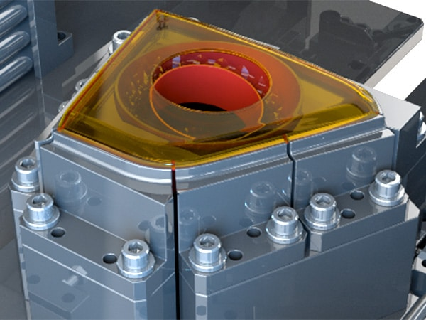 Image of 3D rendering of interior of Branson Ultrasonic welder