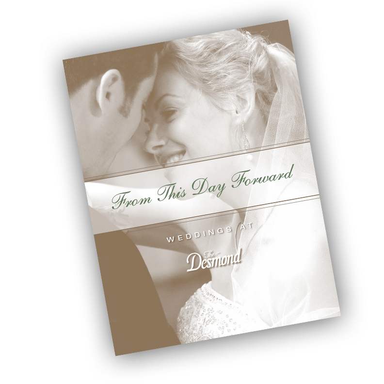 Desmond Wedding Brochure - Brochure Design by Blass Marketing - Cover