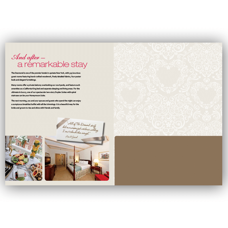Desmond Wedding Brochure - Brochure Design by Blass Marketing - Last Page