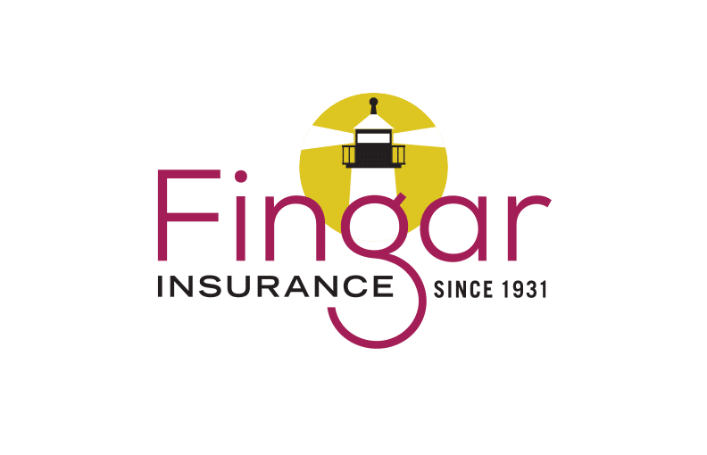 Logo design creative unique blass marketing ny nc fingar insurance logo design by blass marketing thecheapjerseys Choice Image