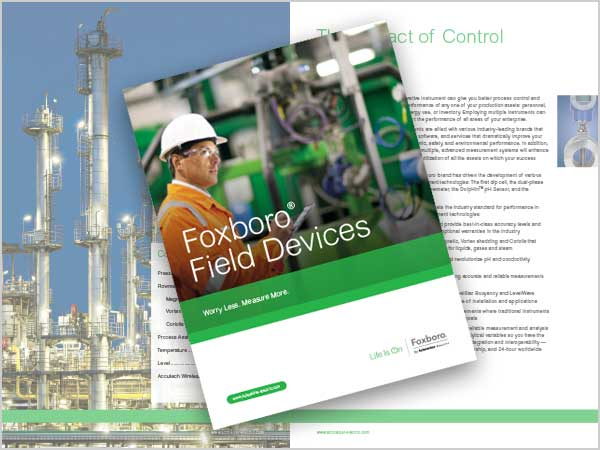 Image of Foxboro brochure design by Blass Marketing